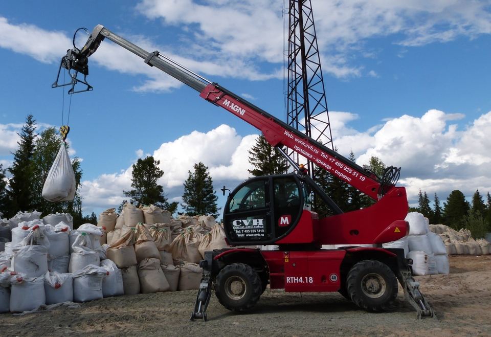 Rotating telehandler MAGNI RTH 4.18 Smart in Russia